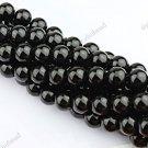 10MM BLACK AGATE ONYX GEMSTONE ROUND BALL LOOSE BEADS FINDINGS 1 STRAND