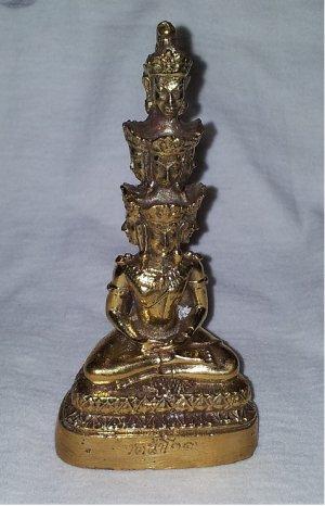 THAI AMULET STATUE PRA KAO NA (9 face)