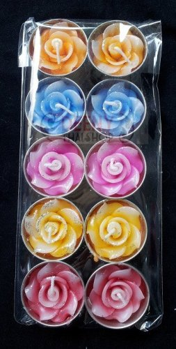 Smell flower aromatic candle in cap