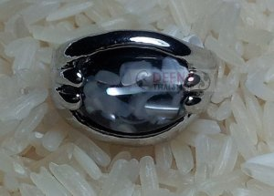 Balck Stone Ring by handmade