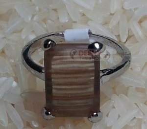 Brown Stone Ring by handmade