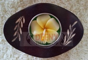 Set money china pot wood put candle wood by handmade