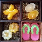Set valentine sweet love Aromatic candle in wood box