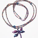 Dragonfly multi-color 2 strand necklace