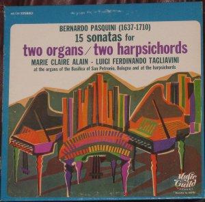 Bernardo Pasquini - 15 Sonatas for Two Organs / Two Harpsichords New York Music Guild, [1969]