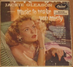 """Jackie Gleason - Music to Make You Misty Capitol Records Double (2) 45"""" EBF-455"""