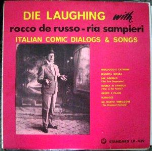 Die Laughing with Rocco de Russo - Ria Sampieri - Italian Comic Dialogs & Songs - Standard LP-439