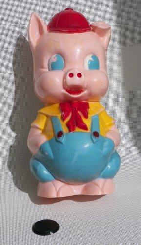 Vintage Porky Pig Piggy Bank - Ancient Carnival Prize - Ideal I-2317