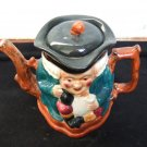 Staffordshire Shorter Toby Type Teapot With Lid 5.75 Inches Tall