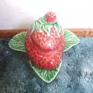 Lovely Majolica 2 Piece Strawberry Jam And Jelly Server
