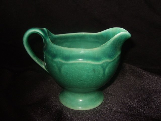 Pretty Green Creamer Possibly McCoy 3.5 Inches Tall