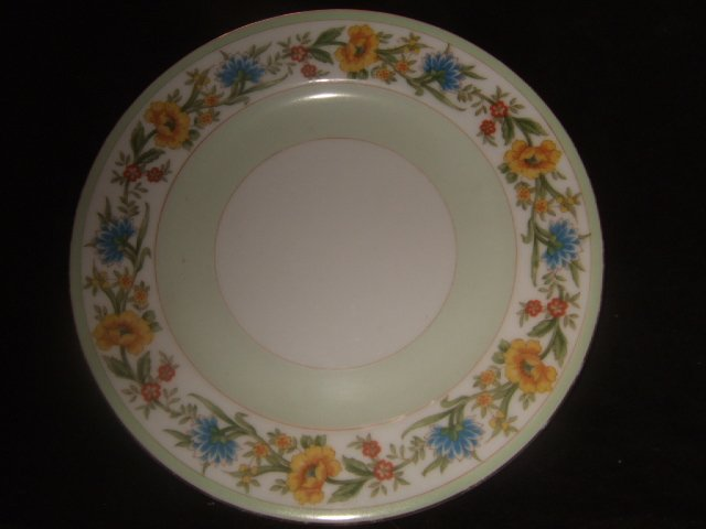 3 Aachi China Salad Plates 7.5 Inch Diameter Made in Occupied Japan