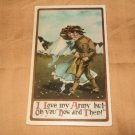 "German ""I Love My Army"" Postcard from 1910'S"