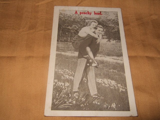 A Peachy Load 1 Cent Postcard 1910's or 20's