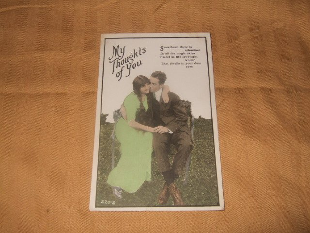 My Thoughts Of You Postcard 1910's No. 220-2