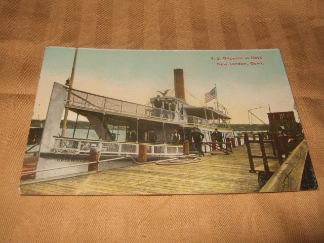 S.S. Griswold At Dock New Haven Conn. 1910's Postcard