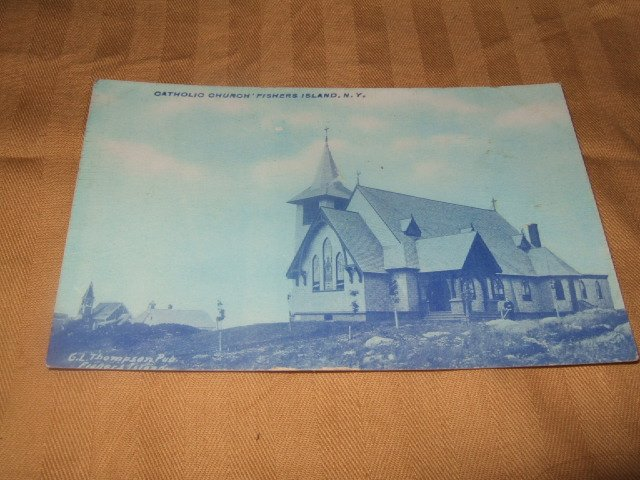 Catholic Church Fisher's Island, NY Postcard 1910's--1920's