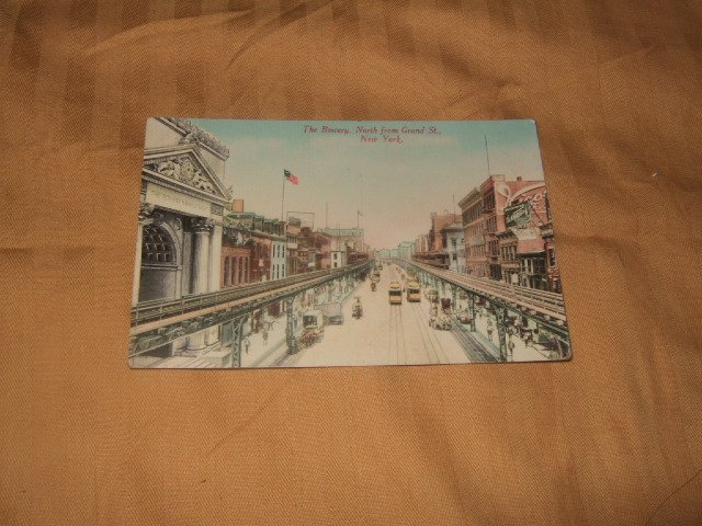 The Bowery, New York One Cent Postcard 1910's