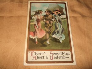 There's Something About A Uniform Army Related 1910's Postcard