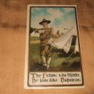 The Fellow Who Thinks He Looks Like Napoleon Army Related 1910's Postcard