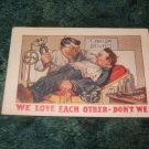 We Love Each Other Don't We? 1910's Postcard
