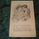 They Say That To Steal Is Not A Square Deal 1910 Postcard
