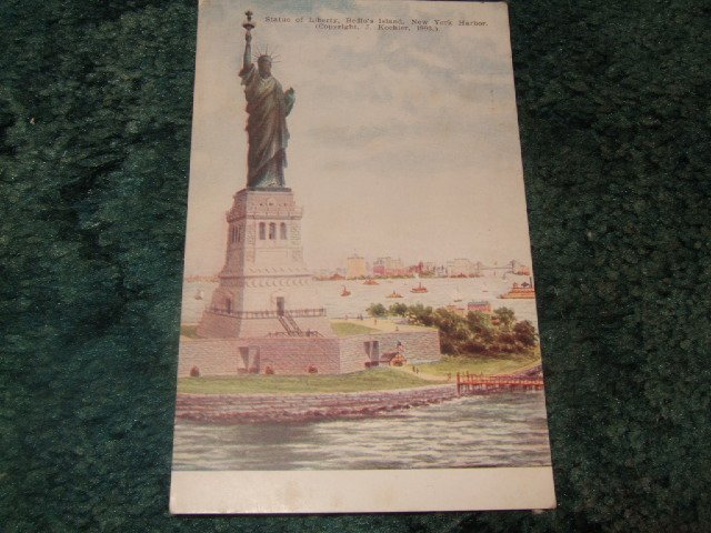 Statue Of Liberty, New York Harbor 1910's Postcard J. Koehler