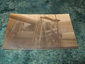 Naval Gun View 1910's Postcard Black And White