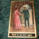 Back To My Love Again 1910's Postcard