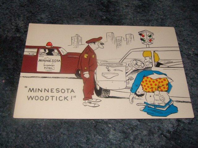 Minnesota Woodtick Color Postcard 1950's?