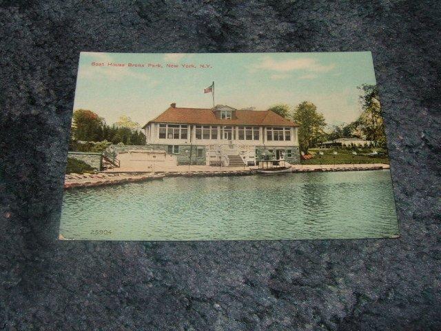 Boat House Bronx Park New York Postcard #25904