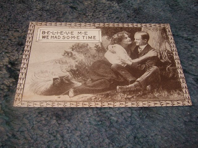 Believe Me We Had Some Time 1910's Postcard