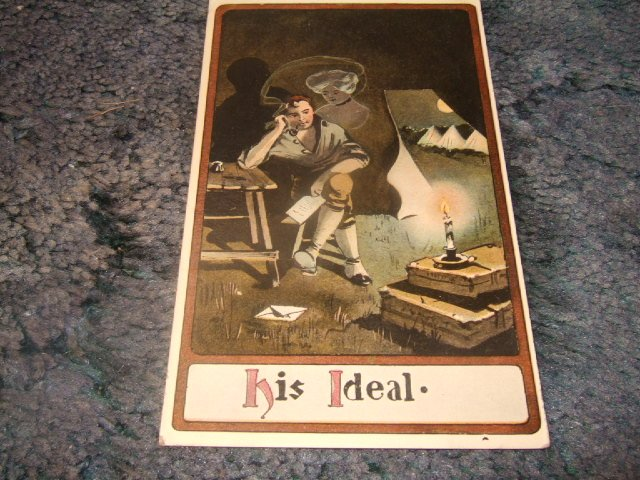 His Ideal 1910's Army Themed Postcard