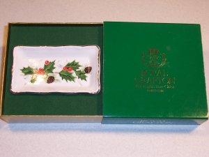 Vintage Royal Grafton Rectangular Holiday Condiment Dish