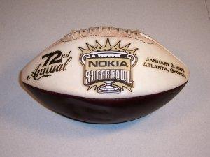 72nd Annual Nokia Sugarbowl January 2, 2006 Atlanta, Georgia Commemorative Football