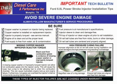 6.0L Ford Injectors & Head Studs EGR Delete &  Oil Cooler Gaskets 18/20mm