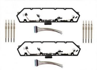 97-03 Powerstroke 7.3L Diesel Glow Plug Kit - Gaskets Harnesses 8 Plugs Pigtails