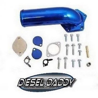 2009 Ford 6.4 6.4l Powerstroke diesel EGR & Cooler Delete kit w/intake elbow