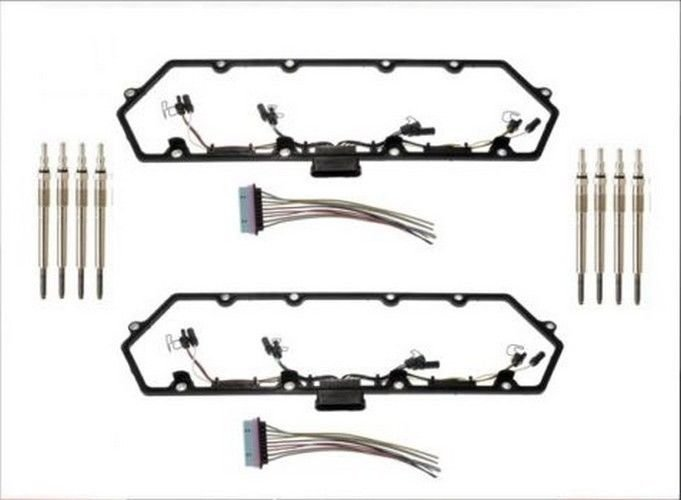 2 valve cover gaskets with wiring 8 glow plugs 7 3 7 3l