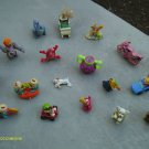 ASSORTED MIXED LOT SMALL TOY  FIGURES ASSORTED THEMES NOVELTIES FREE SHIPPING