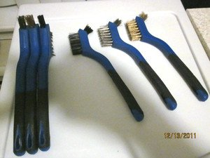 New 6pc BRUSH SET with PRECISION TIPS~Comfort Rubber Handles~FREE SHIPPING~BIN