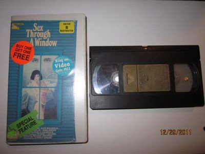 VINTAGE 1972 VHS VIDEO SEX THROUGH A WINDOW  81 MIN VESTRON VIDEO FREE SHIPPING