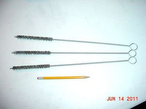 NEW 3 PC 16 inch X 1/2 inch Stainless Steel bristles FREE SHIPPING WITHIN U.S.A.