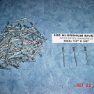 "New ALUMINUM POP RIVETS w/STEEL MANDRELS 100pcs 1/8"" x 3/8"" FREE SHIPPING in USA"