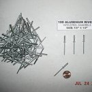 "New ALUMINUM POP RIVETS 100 pcs 1/8"" x 1/2"" FREE SHIPPING WITHIN U.S.A. ONLY"