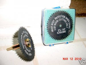 "New 3"" WOOD CUTTING SAW BLADE & 1/4"" x 3/8"" MANDREL~FREE SHIPPING WITHIN USA"