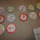 "New 8 LADY JAYNE LTD 2003 HOLIDAY PLATES 8"" NAUGHTY NICE ORIG COLLECTORS BOXES"