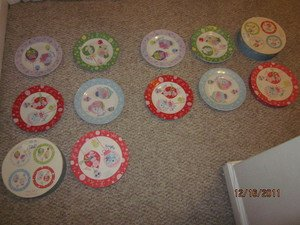 """New 8 LADY JAYNE LTD 2003 HOLIDAY PLATES 8"""" NAUGHTY NICE ORIG COLLECTORS BOXES"""