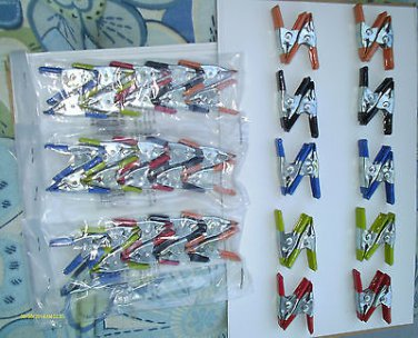 40 pcs 2 inch SPRING CLAMP 8 pcs ea 5 different COLORS hobbies, display, shows