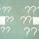 """24 PCS WHITE PLASTIC VINYL COAT CUP HOOKS PLANT HANGERS (12) pcs ea 1 1/2"""" & 2"""""""